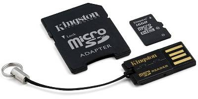 Карта памяти Kingston Class 10 Mobility Kit Gen2 MBLY10G2/16GB