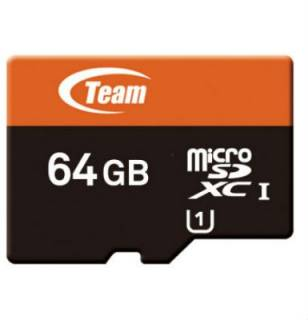 Карта памяти Team Xtreem MicroSDXC UHS-1 64GB + SD-adapter TUSDX64GUHS03