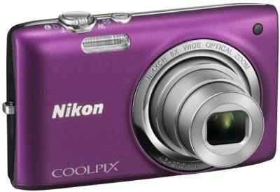 Фотоаппарат Nikon COOLPIX S3500 Purple VNA293E1