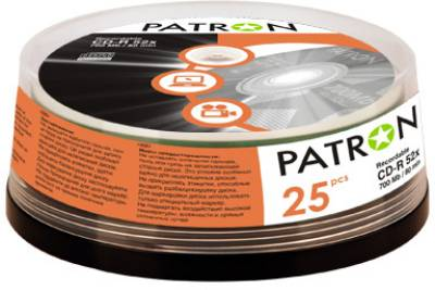 Диск Patron CD-R 700Mb 52x Cake 25 шт INS-C005