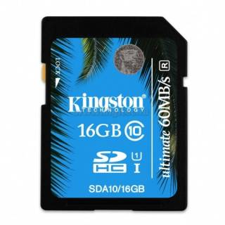 Карта памяти Kingston Ultimate SDHC 16GB Class10 UHS-I SDA10/16GB