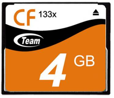 Карта памяти Team CompactFlash 4Gb Team 133x TCF4G13301