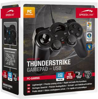 Игровой контроллер SPEEDLINK SL-6515-BK ThunderStrike gamepad USB, Black