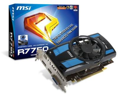 Видеокарта MSI Radeon 7750 1GB DDR5 128bit R7750_POWER_EDTN_1GD/OC