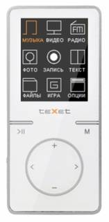 MP3 плеер TEXET T-479 4 Gb White