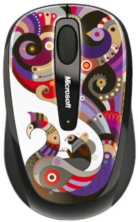 Мышка Microsoft Wireless Mobile Mouse 3500 Artist Edition Chamarelli Black-Blue USB GMF-00205