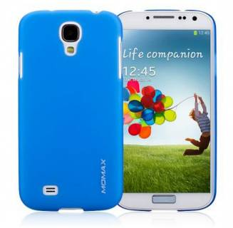 Momax Ultratough Transparent case for Samsung i9500 Galaxy S IV blue
