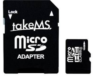 Карта памяти TakeMS Memory card Secure Digital Micro 16Gb TakeMS (class 4) Retail MS16GTFL-HC4R