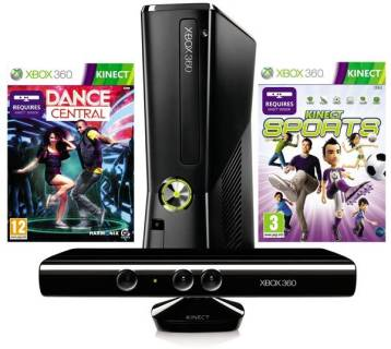 Игровая приставка Microsoft Xbox 360 Slim 250GB + Kinect + Kinect Adventure + Dance Central 2
