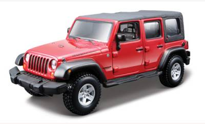 Bburago Авто-конструктор (1:32,1:43) JEEP WRANGLER UNLIMITED RUBICON (красный,1:32) g18-45121