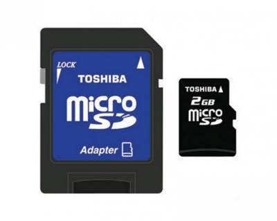 Карта памяти Toshiba 2Gb micro SD + adapter, Class 2 TH.SD-C02GJ BL3A