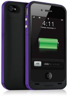 Mophie Juice Pack Plus for iPhone 4 - Purple (2000mAh) MOP-1169