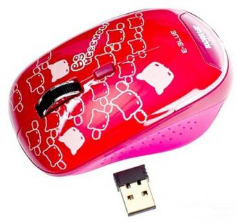 Мышка E-BLUE Monster Babe /2.4G wireless / red EMS103RE