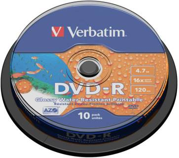 Диск Verbatim DVD+R Disc 4.7Gb 16x Cake Box 43763
