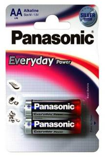 Батарейка Panasonic EVERYDAY POWER AA BLI 2 ALKALINE LR6REE/2BR