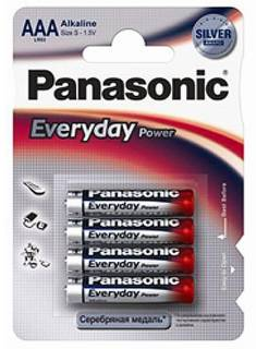 Батарейка Panasonic EVERYDAY POWER AAA BLI 4 ALKALINE LR03REE/4BR