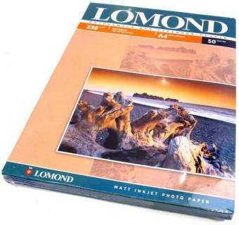 Фото бумага LOMOND Photo Paper Matt 230 (102016) 230 г/м2