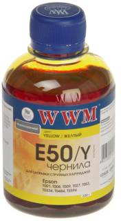Чернила WWM EPSON Stylus Photo Universal Yellow E50/Y