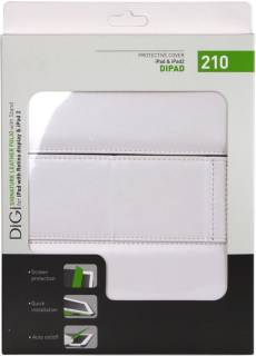 DIGI iPad - SIGNATURE Leather FOLIO (White)