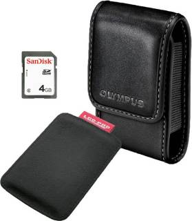 Olympus Smart Accessory Kit (Case + SDHC 4Gb + Pad) E0412129