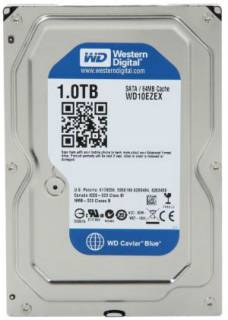 Внутренний HDD/SSD Western Digital Caviar Blue 1TB 7200 об/хв, 64 MB WD10EZEX