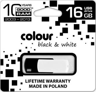 Флеш-память USB Goodram USB 16Gb Goodram Colour Black&White PD16GH2GRCOKWR9