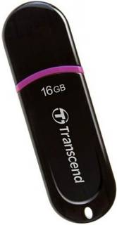 Флеш-память USB Transcend JetFlash 300 16GB Black USB 2.0 TS16GJF300
