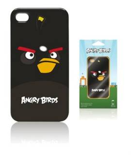 Gear4 iPhone 4S Angry Birds - black bird ICAB404G