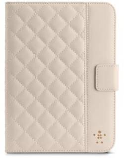 Belkin Чехол iPad mini Quilted Cover Stand бежевый F7N040vfC01