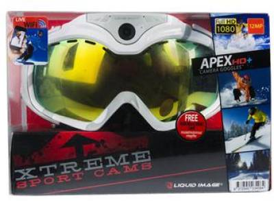 Liquid Image Snow Goggle Apex HD 1080P White c Wi-Fi