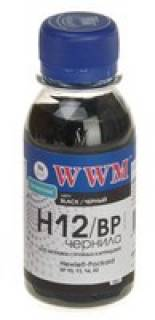 Чернила WWM HP 10/13/14/82 (Black Pigment) (H12/BP-2) 100 мл