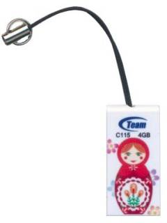 Флеш-память USB Team USB 4Gb C115 Type 5 TC11554GW01