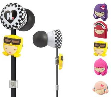Наушники Monster Harajuku Lovers Wicked Style In-Ear Featuring Interchangeable Faces MNS-128691-00
