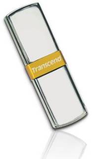 Флеш-память USB Transcend JetFlash V85 8GB Silver/Golden USB 2.0 TS8GJFV85
