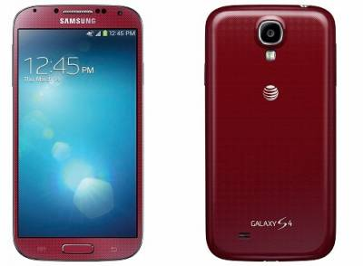 Смартфон Samsung Galaxy S IV red i9500