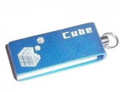 Флеш-память USB Goodram Cube 16 GB Blue - LOGO PD16GH2GRCUBR9L