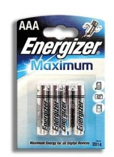 Батарейка ENERGIZER Maximum AAA/LR03 FSB4 297577