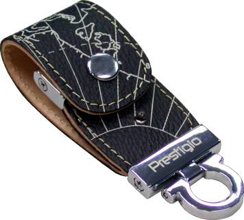 Флеш-память USB Prestigio Geo Edition Leather PMSLDF4096MAPBLACK