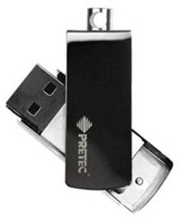 Флеш-память USB Pretec i-Disk Win  8GB Black W2N08G-BK