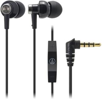 Наушники Audio-Technica Inner ear type features an Apple in-line controller - black ATH-CK400IBK
