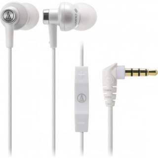 Наушники Audio-Technica Inner ear type features an Apple in-line controller - white ATH-CK400IWH