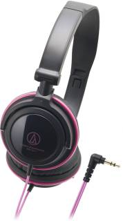 Наушники Audio-Technica Portable headphones with rotating earpiece-Black & Pink ATH-SJ11BPK