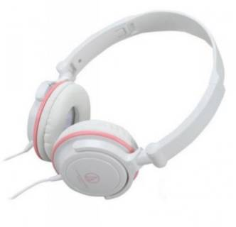 Наушники Audio-Technica Portable headphones with rotating earpiece-White & Pink ATH-SJ11WPK