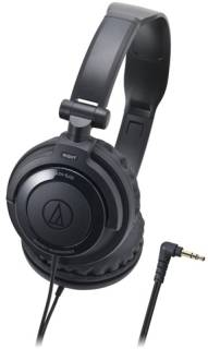 Наушники Audio-Technica Portable headphones with rotating earpiece-Black ATH-SJ33BK