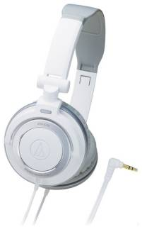 Наушники Audio-Technica Portable headphones with rotating earpiece-White ATH-SJ55WH