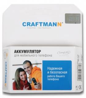 Craftmann АКБ HTC T5353 Touch Diamond 2 longlife TOPA160 1200mAh longlife