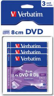 Диск Verbatim DVD-R Disc Mini Dual Layer 4x, 2.6Gb Slim Case Matt Silver 43632