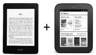 Электронная книга Amazon Kindle Paperwhite + NOOK Simple Touch