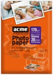 Фото бумага ACME Photo Paper 170g/m2/A4 20 sheets/glossy 4770070855287