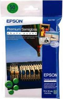 Фото бумага Semiglossy Photo Paper 10x15, 251g/m2 (50 sheets) S041765BH